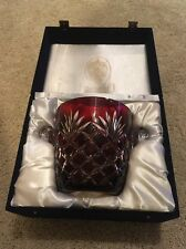 Huge Rare Faberge Crystal Glass Dark Ruby Red Bowl