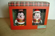 Disney Vinylmation Mickey Minnie Mouse Christmas Set New in Box