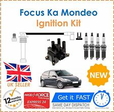 Fits Ford Fusion Ka Focus Puma Ignition Spark Plugs Coil Pack HT Leads Set NEW