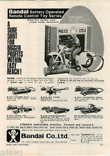1967 ADVERT Bandai Toy Battery Operated Remote Control Police Motorcycle Cycle