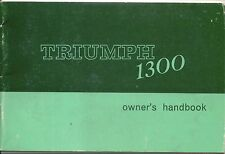 Triumph 1300 including TC Original Owners Handbook 1967-1970 No. 512901 8th ed.