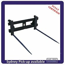 EURO QUICK HITCH with BALE SPEARS and a CLASS 2 CARRIAGE QEH25E fully certified