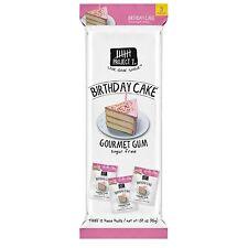 3 paquetes de doce piezas-proyecto 7 pastel de cumpleaños Gourmet goma de mascar sin azúcar-EE. UU.