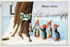 LUTINS. GNOMES. PIXIES. PETITS CHANTEURS DE NOËL. SINGERS CHRISTMAS