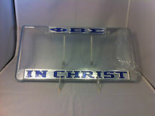 "Phi Beta Sigma Fraternity ""In Christ"" Silver/Blue License Plate Frame-New!"