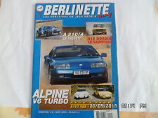 BERLINETTE MAG N°2 AVRIL 2004 ALPINE V6 TURBO R12 GORDINI A310/4 RAGNOTTI   E22