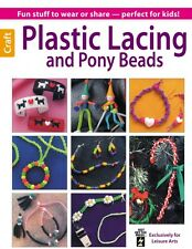 PLASTIC LACING AND PONY BEADS-Beaded Braiding-Macrame-Jewelry Craft Idea Book