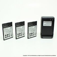 3 x 1800mAh Battery for HTC Evo Design 4G PH44100 Acquire Hero S Dock Charger