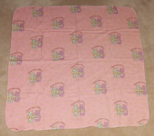 "Care Bears Baby Pink Receiving Blanket 28"" x 28"" Lovey Once Upon A Time"