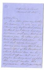 36 Adelaide Road HAVERSTOCK HILL London 1859 Antique Handwritten Letter