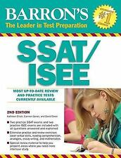 Barron's SSAT/ISEE by Carmen Geraci, David Ebner, Kathleen Elliot 2nd Edition