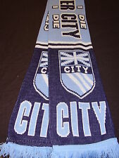 MANCHESTER CITY SUPPORTERS SCARF  NEW UK FLAG DESIGN.EASTLANDS  .FREE POST