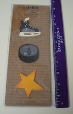 Embellish Your Story Magnets HOCKEY SET 3 Assorted Puck Sticks Skate Star  NEW