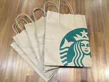 (25x) Starbucks Reusable Brown Paper Shopping Lunch Bag With Handles