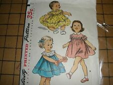 Vintage Simplicity #1112-Toddler One Piece Dress w/Scalloped Yoke-Size 1-Cut/Com
