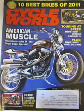 Cycle World Magazine September 2011 American Muscle Mule Motorcycles XR1660