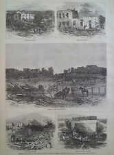 TORNADO DEVASTATION MOUNT CARMEL ILLINOIS 1877 HARPER'S WEEKLY
