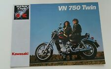 Prospekt Sales Brochure Kawasaki VN 750 Twin Technik Moped Bike    автомобиль