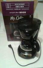 NIB Mr. Coffee 5 Cup Switch BLACK Coffee Maker