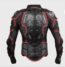 Motorcycle Motorcross Racing Full Body Armor Spine Chest Protector Jacket Red L