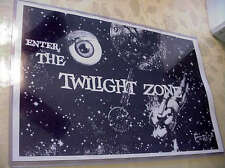 "Twilight Zone TV Show (Rod Serling) ~11x17"" Mini poster in clear flexible holder"