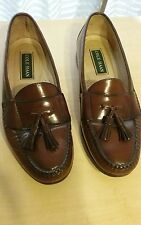 mens 10D brown cole haan tassel leather shoes