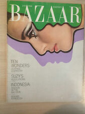 """Magazine Harper's BAZAAR January 1968 """"Ten Wonders""""  Collection Vintage Mode"""