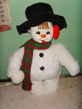 Santa's Best Christmas decoration flower shop Friendly Snowman Display Animated