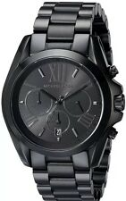 Michael Kors Women's MK5550 Bradshaw Chronograph Black Stainless Steel Watch