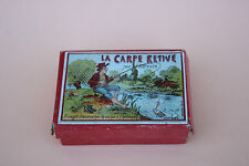 Ancien Jeu de patience JJF Paris LA CARPE RETIVE adresse carpe hameçon
