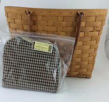 Longaberger 2002 Large Boardwalk Basket Combo Khaki Check