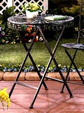 """FLEUR DE LIS"" IRON BISTRO STYLE PATIO TABLE ** INDOOR/OUTDOOR  ** NIB"