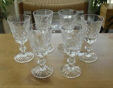 "Set of 6 Edinburgh Crystal Star of Edinburgh Sherry Glasses - 4 1/2""(11.5cms)"