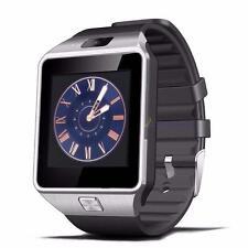 Bluetooth montre Smart Watch téléphone GSM Carte SIM pour iPhone Android NOIR DC