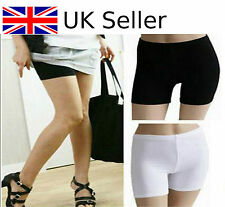 Safety Shorts Women Lady Fashion Pants Leggings Yoga Seamless Basic Plain WHITE
