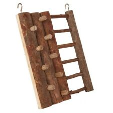 Hamster Mice Mouse Natural Wood Hanging Playground Toy Climbing Wall with Ladder