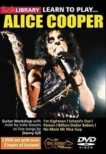 LICK LIBRARY Learn to Play ALICE COOPER Metal Rock LESSON Electric GUITAR DVD