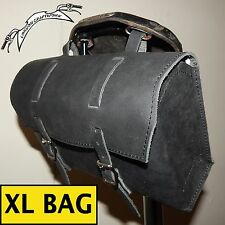 Extra Large Genuine Leather Bicycle Bag Saddle Handlebar OLD FASHIONED UK STOCK