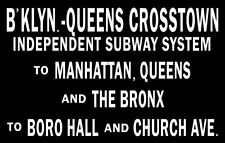 1930's New York Subway Sign Poster 11X17 Manhattan Bronx #2 Buy Any 2 Get 1 FREE