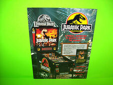 Data East JURASSIC PARK Original 1993 NOS  Pinball Machine Promo Sales Flyer
