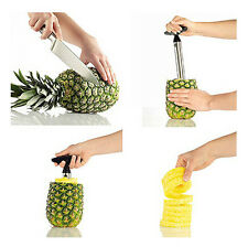 Stainless Steel Fruit Pineapple Cutter Peeler Corer Slicer Easy Kitchen Tool