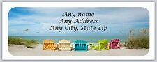 30 Personalized Return Address Labels Beach Buy 3 Get 1 free(c679)
