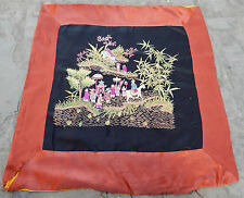 Antique chinese hand broderie soie wall hanging tapestry/panel 59X56cm (X124)
