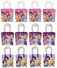 NEW 12x Disney Princess Birthday Party Favor Goody Bags Loot Bags Gift Candy Bag