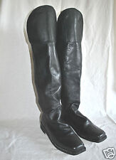 Knee Flap Boots Civil War - Sizes 8-13 - Black Leather - 6-8 Week Delivery