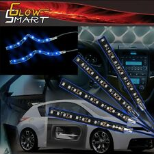 "4"" Neon Blue Rubber LED Strip (4-piece) for Car Boat and Motorcycle & Parties"