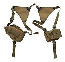 Desert Tan Double Shoulder Holster w/Clip Pouch BB Airsoft Pistol Hand Gun 208TA