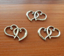 15 Double Heart Connector Charm Infinity Love Charms Antique Silver Findings Hot