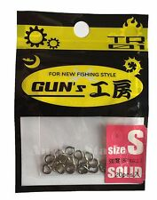 D-Stream TR01 Gun's GP Solid Ring for Jigging size S / 80lb (20pcs)