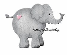 BABY ELEPHANT Small Die Craft Steel Die Cutting Die Cottage Cutz CC-004 New